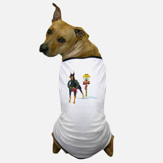 Doberman Holidays Dog T-Shirt