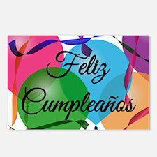 Feliz Cumpleanos Birthday Postcards (Package of 8)