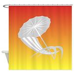 Beach Chair and Umbrella Shower Curtain