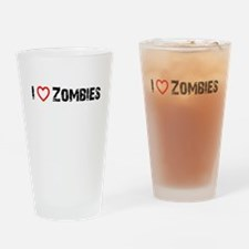 I <3 Zombies! Drinking Glass