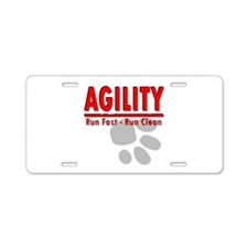 Agility Run Fast Aluminum License Plate