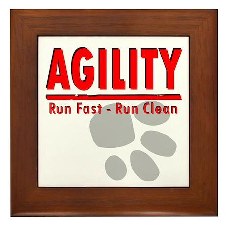 Agility Run Fast Framed Tile