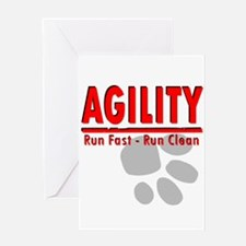 Agility Run Fast Greeting Card