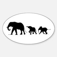 Elephant Sticker (oval 10 Pk)