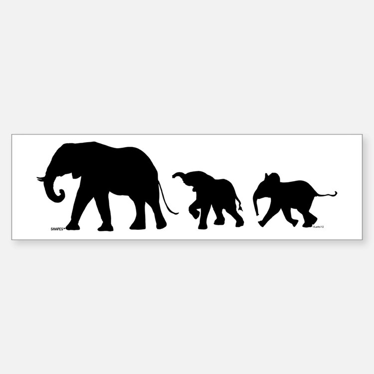 Elephant (bumper) Bumper Bumper Bumper Sticker