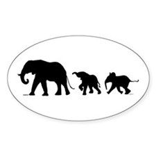 Elephant Sticker (oval)