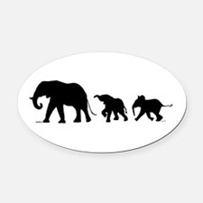 Elephant Oval Car Magnet