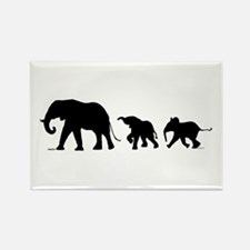Elephant Rectangle Magnet (100 Pack) Magnets