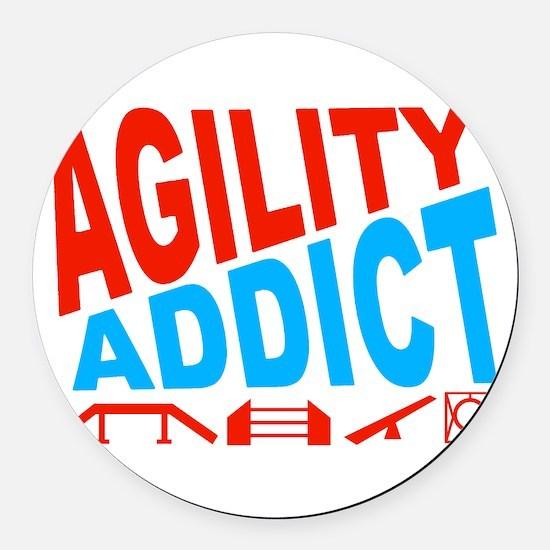 Agility Addict-2 Round Car Magnet