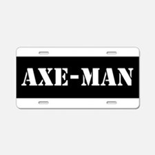 Axe-man Aluminum License Plate