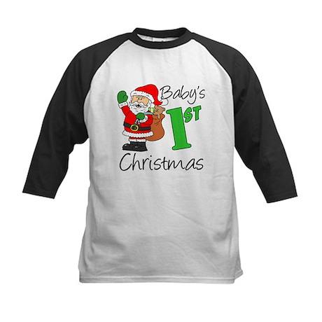 Babys 1st Christmas Kids Baseball Jersey