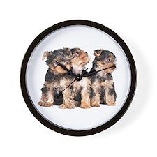 Yorkie Puppies Wall Clock