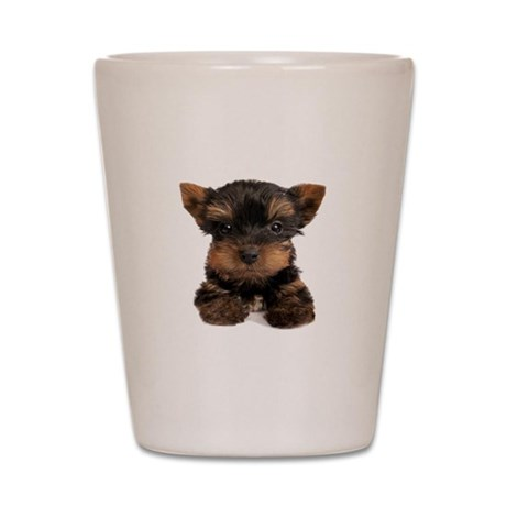 Yorkie Puppies Shot Glass