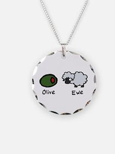 Olive Ewe Necklace