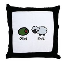 Olive Ewe Throw Pillow