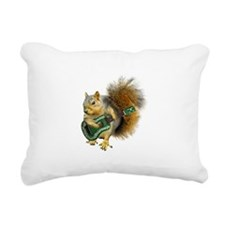 Squirrel Ukulele Rectangular Canvas Pillow