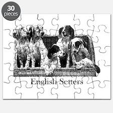 English Setter Pups Vintage Puzzle