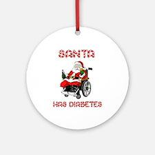 Santa Diabetes Ornament (Round)