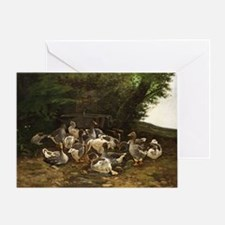 Lazy Day for Geese Greeting Card