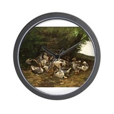 Lazy Day for Geese Wall Clock