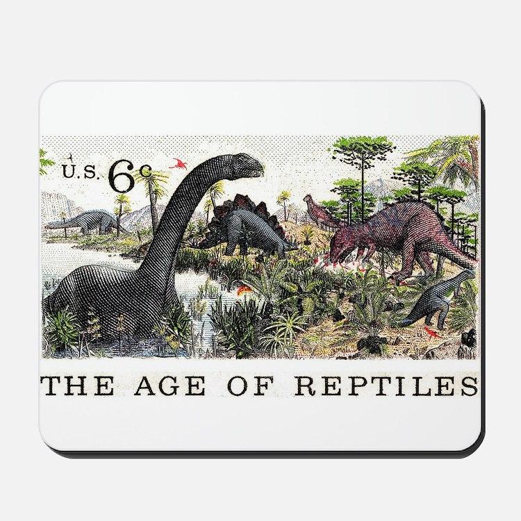 1970 U.S. Dinosaurs Postage Stamp Mousepad