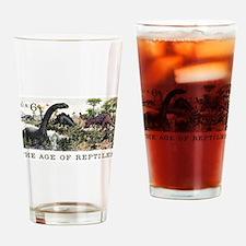 1970 U.S. Dinosaurs Postage Stamp Drinking Glass
