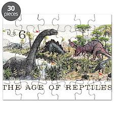 1970 U.S. Dinosaurs Postage Stamp Puzzle