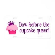 Queen Cupcake Aluminum License Plate
