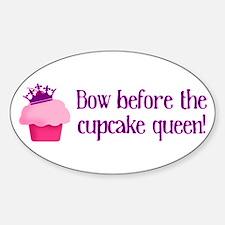 Queen Cupcake Sticker (Oval)