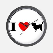 I Heart Affenpinscher Wall Clock