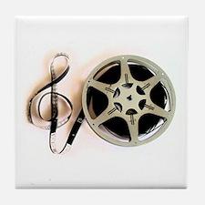 Reel and Clef Film Music Design2 Tile Coaster