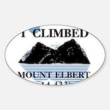 I Climbed Mount Elbert Decal