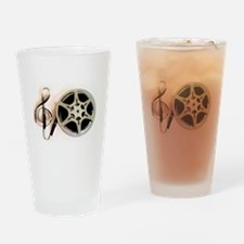 Reel and Clef Film Music Design2 Drinking Glass