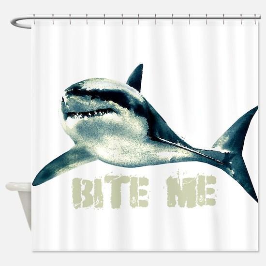 Bite Me Shark Shower Curtain