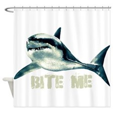 bitemeshark.png Shower Curtain
