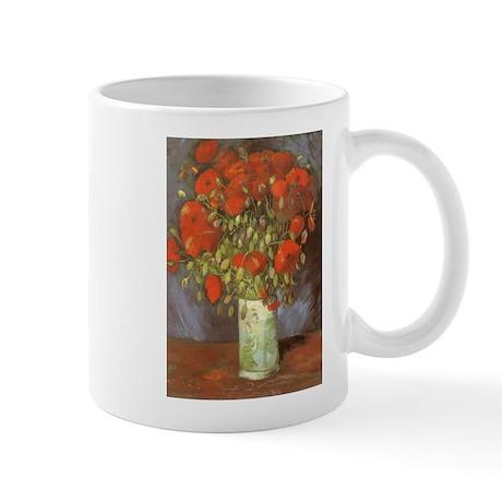 Van Gogh Vase with Red Poppies Mugs