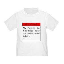 Toddler Warning Shirt