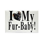 I (HEART) my Fur-Baby! Rectangle Magnet