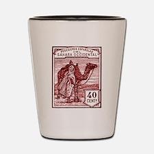 1924 Spanish Sahara Tuareg and Camel Stamp Shot Gl