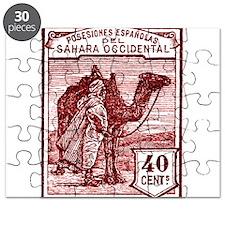 1924 Spanish Sahara Tuareg and Camel Stamp Puzzle