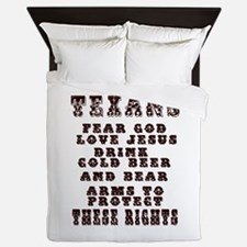 Texans Right to Bare Arms.png Queen Duvet
