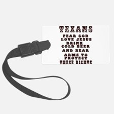 Texans Right to Bare Arms.png Luggage Tag
