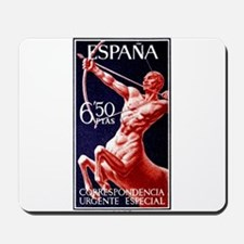1966 Spain Centaur Archer Postage Stamp Mousepad