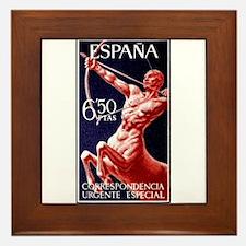1966 Spain Centaur Archer Postage Stamp Framed Til