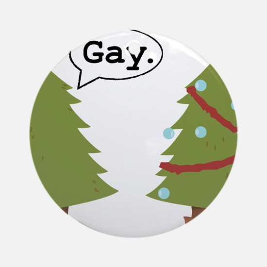 Christmas trees Ornament (Round)