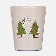 Christmas trees Shot Glass