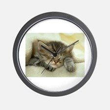 sleeping kitty Wall Clock