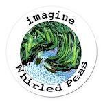 Imagine Whirled Peas Round Car Magnet
