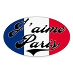 I love Paris Oval Sticker
