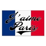 I love Paris Rectangle Sticker